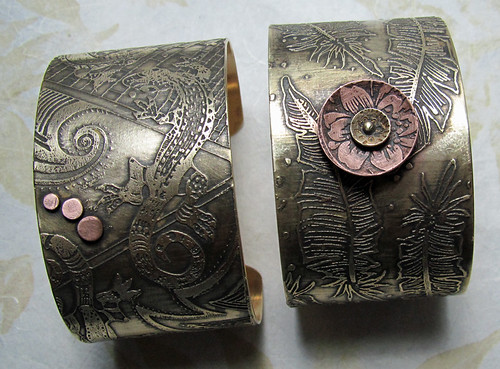etched cuffs in progress