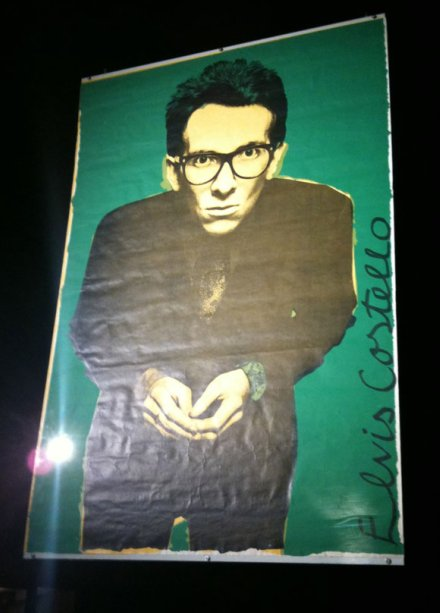 Barney Bubbles' Elvis Costello/Live Stiffs tour poster as featured in the exhibition Mindful Of Art at London's Old Vic Tunnels.