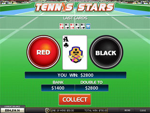 free Tennis Stars slot gamble feature