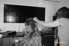 Getting ready for big day (hayleyemmaphotography) Tags: flowers wedding people blackandwhite white black love beauty smile fashion hair effects happy scotland team scenery like cath effect cathandfreckswedding