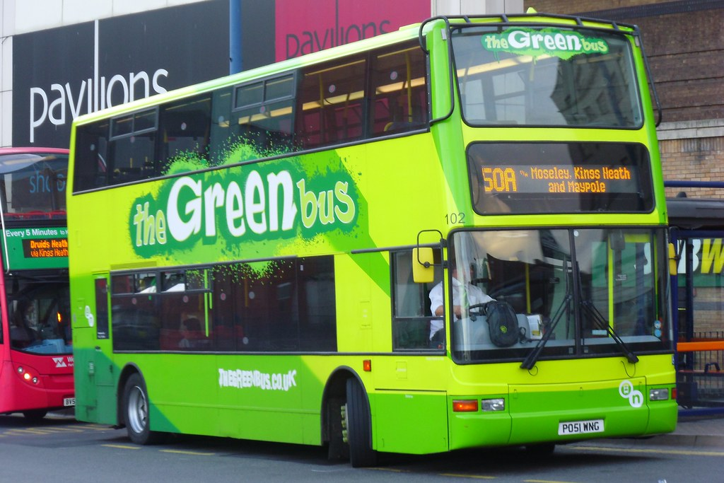 The Green Bus Dennis Trident 2/Plaxton President 102 (PO51 WNG)
