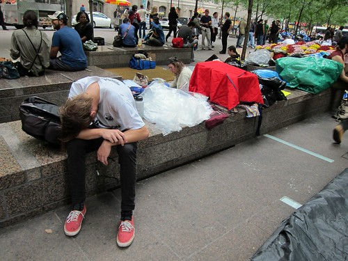 Occupy Wall Street: Day Six, Zuccotti Park, Exhausted