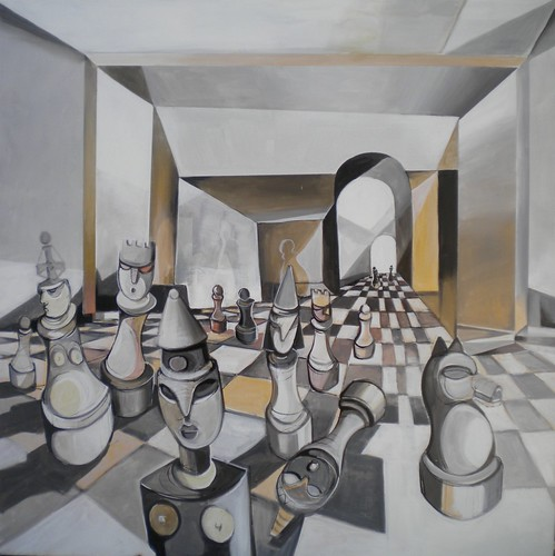 Sophistication - Painting - Neo-Cubism