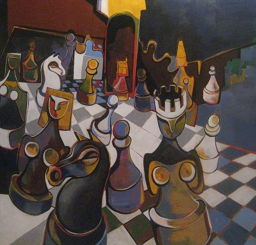 Queen's Fiesta - Painting - Cubism