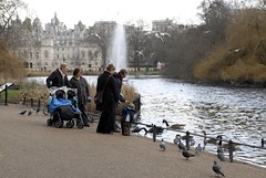 St James's Park (Time Out UK) Tags: park family people lake sunny feedingthebirds greenspaces