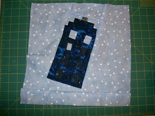 TARDIS quilt square