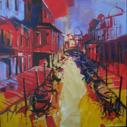 Venice Canals   Painting - Original