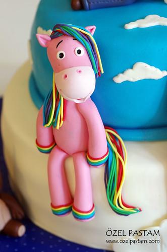 Rainbow Horse Cake (Baby Tv)