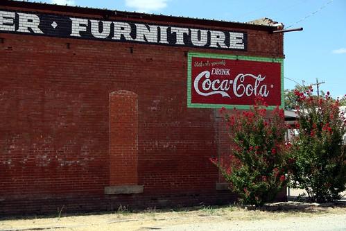 repainted coca-cola ad in baird