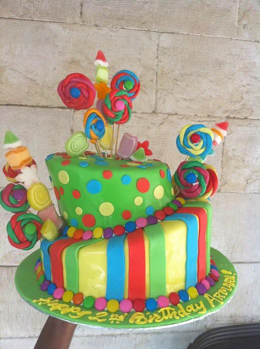 Rainbow Kids Cake