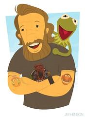 Happy b-day, Jim Henson! (medialunadegrasa) Tags: street animal sesame muppets kermit drteeth jimhenson drteethandtheelectricmayhem