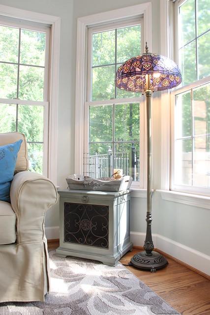 peacock tiffany floor lamp
