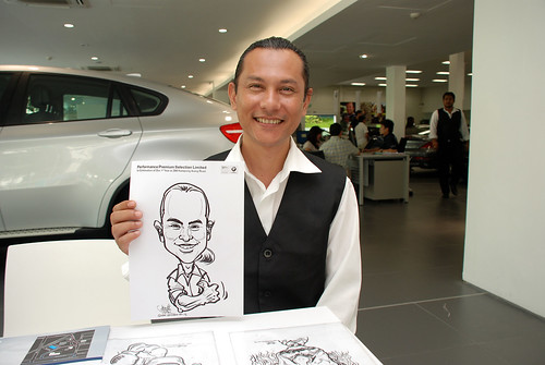 Caricature live sketching for Performance Premium Selection first year anniversary - day 4 - 26