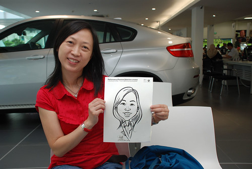 Caricature live sketching for Performance Premium Selection first year anniversary - day 4 - 21