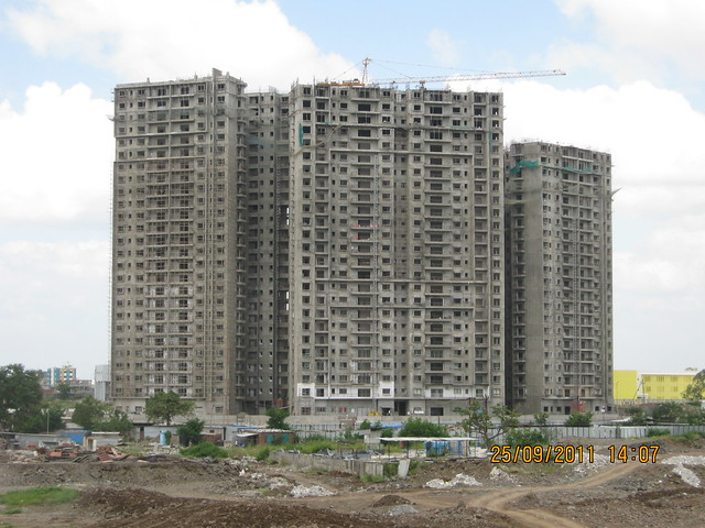 Tower 12 - 14 - view from  a 3 BHK Sample Flat in Tower 1 at Paranjape Schemes' Blue Ridge, Hinjewadi Phase 1, Pune