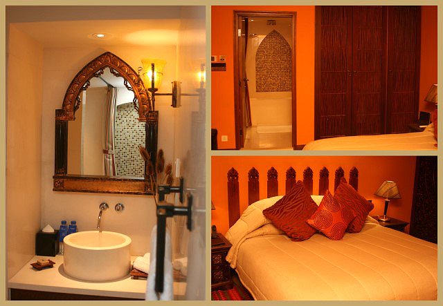 The Safari bedroom and ensuite toilet is so Arabian