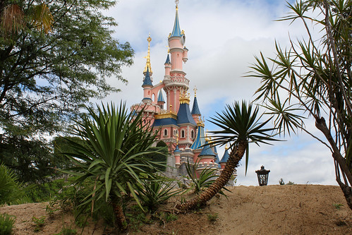 The Castle seen from the Adventureland entrance area