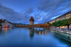 LUCERNE... in the blue hour (Rex Montalban Photography) Tags: switzerland europe luzern bluehour lucerne hdr hss photomatix rexmontalbanphotography sliderssunday