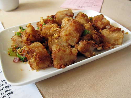 turnip cake with xo sauce