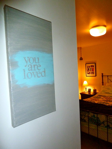 """You Are Loved"" on Canvas"
