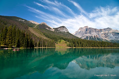 Emerald Lake (idashum) Tags: mountain lake canada reflection clouds reflections landscape photography nikon bravo columbia canoe british ida emerald shum yoho emeraldlake mountainrange canadianrockies d300 yohonationalpark glaciallake colorphotoaward idashum blinkagain idacshum bestofblinkwinners