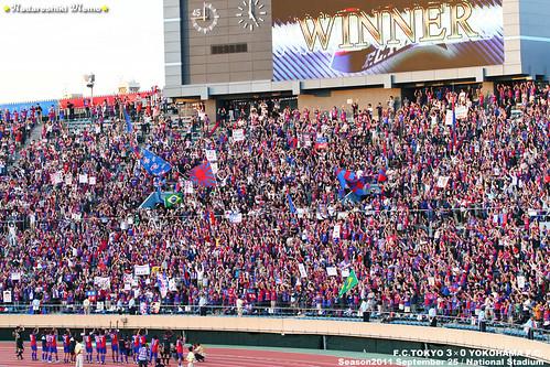 FC東京試合後 国立競技場