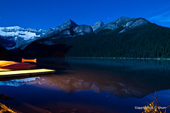 Lake Louise at Night (idashum) Tags: longexposure nightphotography canada night dark stars landscape photography dock nikon kayak canoe glacier canoes alberta banff lakelouise ida shum starrynight banffnationalpark d300 glaciallake idashum idacshum