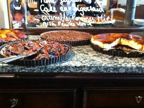 The dessert display