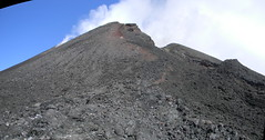 New Southeast Crater and the ghost of the great rock spine (etnaboris) Tags: italy mountain volcano lava cone sicily spine etna eruption pinnacle 2011 paroxysm newsoutheastcrater
