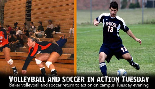 BU Volleyball and Soccer Action