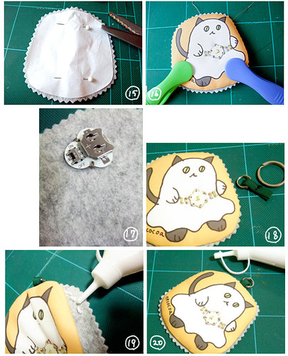 How to make Halloween ghost cat charm 3