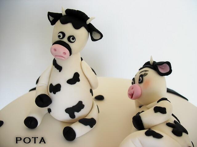 gâteau les vaches cake cow