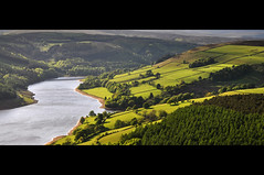 Ladybower Fields (Paul Newcombe) Tags: lake green water nationalpark bright derwent derbyshire peakdistrict may reservoir foliage telephoto fields peaks lush tress afternoonlight derwentedge longlens greass tamron18200 laydybower