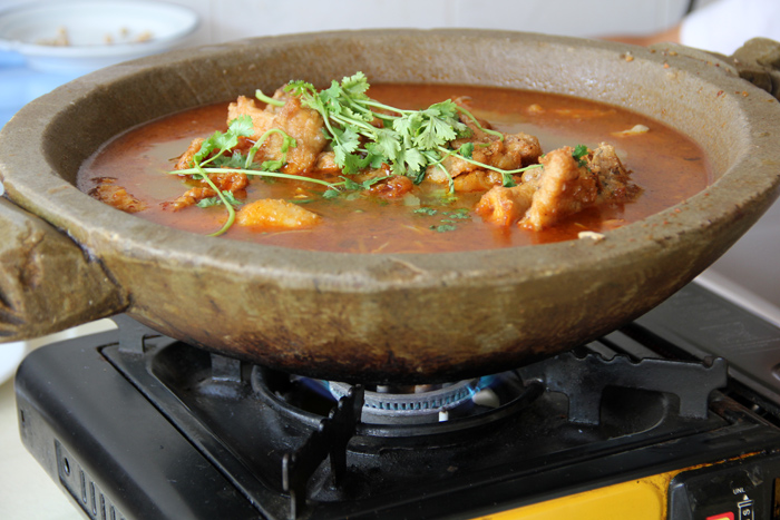 Deep Fried Fish Hot Pot