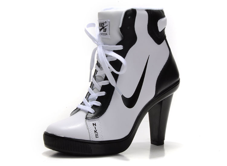 newest 1f62e 07594 black white nike high heels boots for women (nike high heels size 10) Tags