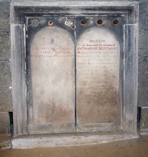Bentalou graves in the Westminster Hall catacombs