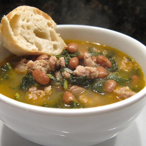 Sausage, Bean and Kale Soup
