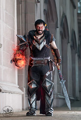 Rage Hawke (N8Zim) Tags: 2 washington dragon cosplay age armor mage fireball hawke da2