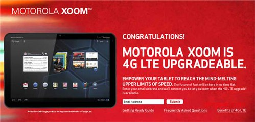 Motorola XOOM Upgradeable