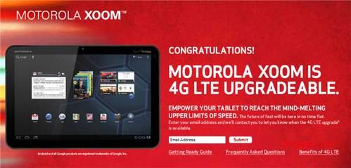Motorola XOOM Upgradeable