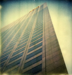 KPMG Building (tobysx70) Tags: california ca toby color building slr tower skyscraper project point polaroid sx70 la office los downtown angeles south grand tip shade highrise block hancock avenue vanishing kpmg 680 impossible the px outsidethelines colorshade theimpossibleproject px680 tobyhancock impossaroid
