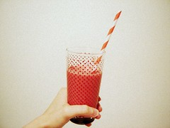 dots and stripes (Le Portillon) Tags: glass vintage drinking dots smoothie straws striped