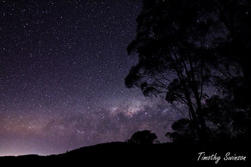 Milky way setting over the horizon