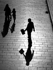 On the other side of memory (Gremxul) Tags: street shadow people blackandwhite black texture monochrome lines silhouette composition contrast canon shadows shades minimal negativespace shade g12 blackwhitephotos gremxul canong12 canonpowershotg12