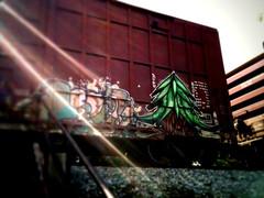 Plant Trees (+PR+) Tags: railroad streetart les graffiti trains pop il railcar crabs berwyn railfan boxcars bmb rollingstock planttrees rxr benching