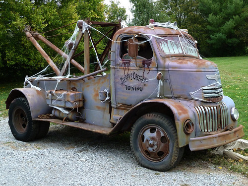 40's Vintage Chevrolet Cab Over Engine (COE) Tow Truck by J Wells S