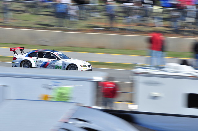 BMW M3 into turn 1