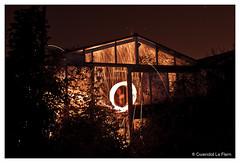 Warehouse painting (Ladnewg) Tags: longexposure light lightpainting night canon painting bretagne rennes firepainting poselongue 50d