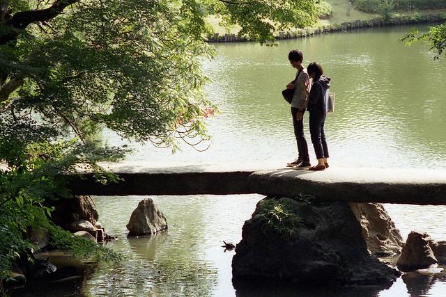 石橋の真ん中