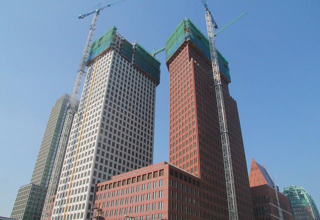 De rijzende skyline van Den Haag